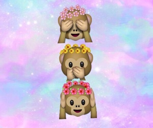 flower crown, monkeys, and lindo image