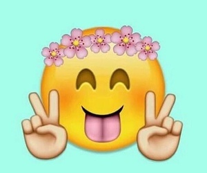 emoji, peace, and happy image