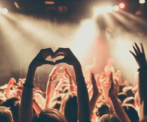crowd, heart, and music image
