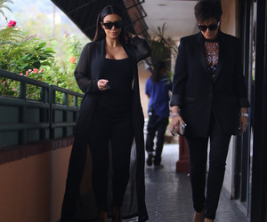 black, kim kardashian, and kris jenner image