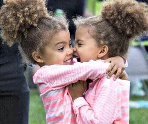 twins, cute, and sisters image