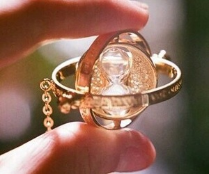 harry potter, necklace, and time image