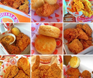 biscuits, food, and fried chicken image
