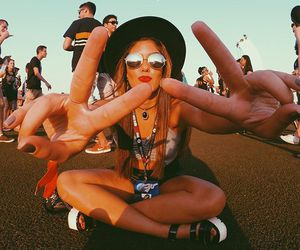cool, glasses, and peace image