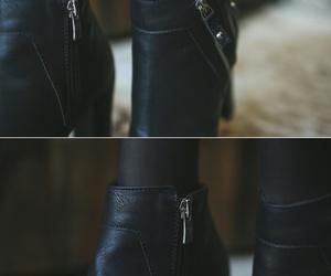 autumn, korean fashion, and black image