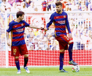 Barcelona, messi, and pique image