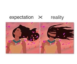 funny, hair, and disney image