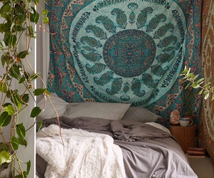 bedroom, room, and bohemian image
