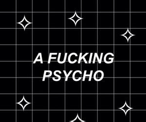 Psycho, wallpaper, and black image