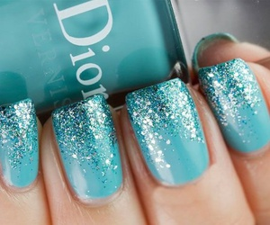 nails, blue, and dior image