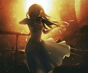 shigatsu wa kimi no uso, anime, and white dress image