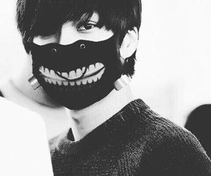 black and white, exo, and tokyo ghoul image