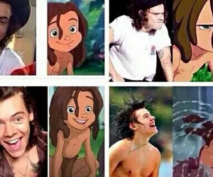 tarzan, Harry Styles, and one direction image