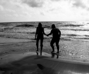 beach, memories, and black and white image