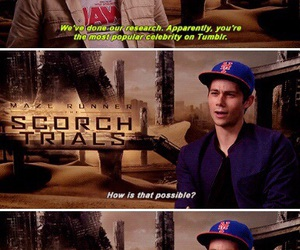 celebrity, dylan o'brien, and scorch trials image