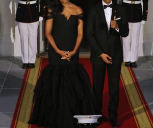 barack obama, couple, and elegance image
