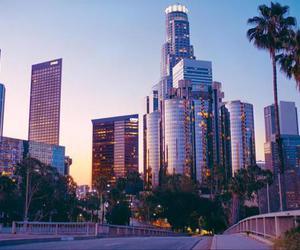 city, downtown, and la image