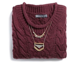 autum, sweater, and chain image