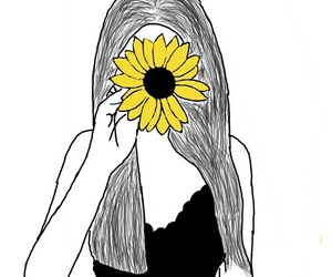 tumblr, draw, and flower image