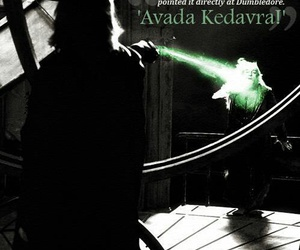 harry potter, avada kedavra, and dumbledore image