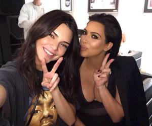 kendall jenner, kim kardashian, and jenner image