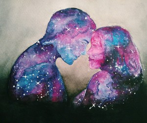 color, watercolor, and couple image