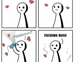 love, funny, and bug image