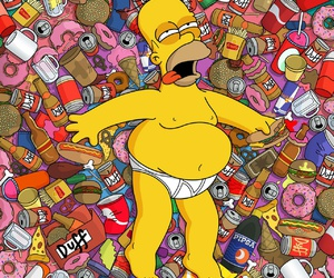 food, wallpaper, and homer simpson image