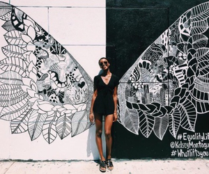 black and white and wings image