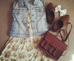 bag, dress, and outfit image
