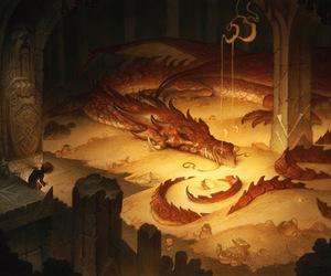 dragon, the hobbit, and smaug image