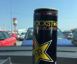 black, energy drink, and car image