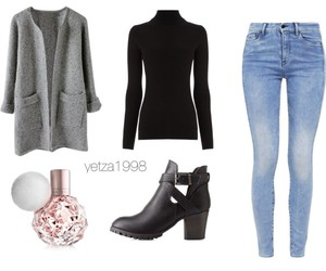 boots, coat, and outfits image
