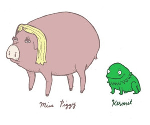 blond, doodle, and pig image