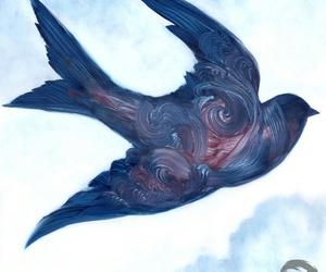 art, oil, and oiseau image