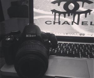 apple, chanel, and dslr image