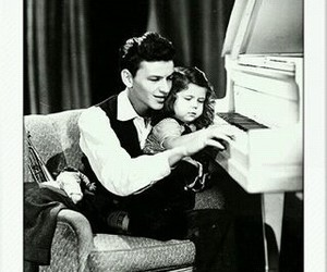 black and white, family, and piano image