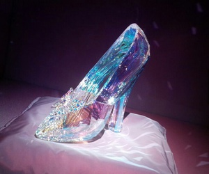 crystal, cinderella, and shoes image