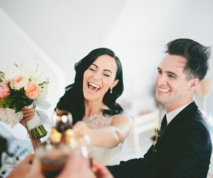 brendon urie, sarah urie, and P!ATD image