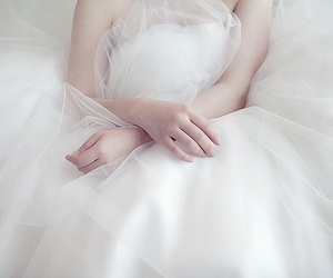 white, dress, and wedding image