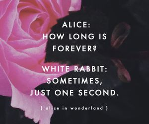 alice, forever, and quote image
