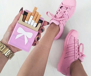 accessories, adidas, and cigarette image
