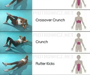 fitness, workout, and abs image