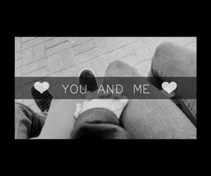together, you and me, and love image