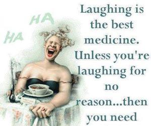 laugh, funny, and medicine image