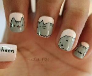 cat, nails, and kitty image