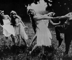 charlie chaplin, vintage, and nymphs image