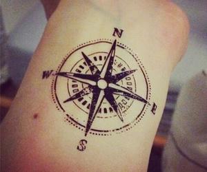 tattoo, compass, and art image