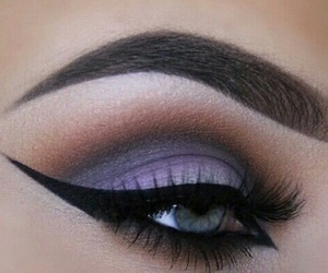 makeup, eyeliner, and purple image