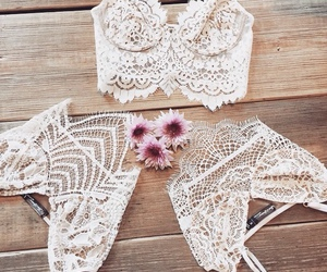 fashion, white, and lace image